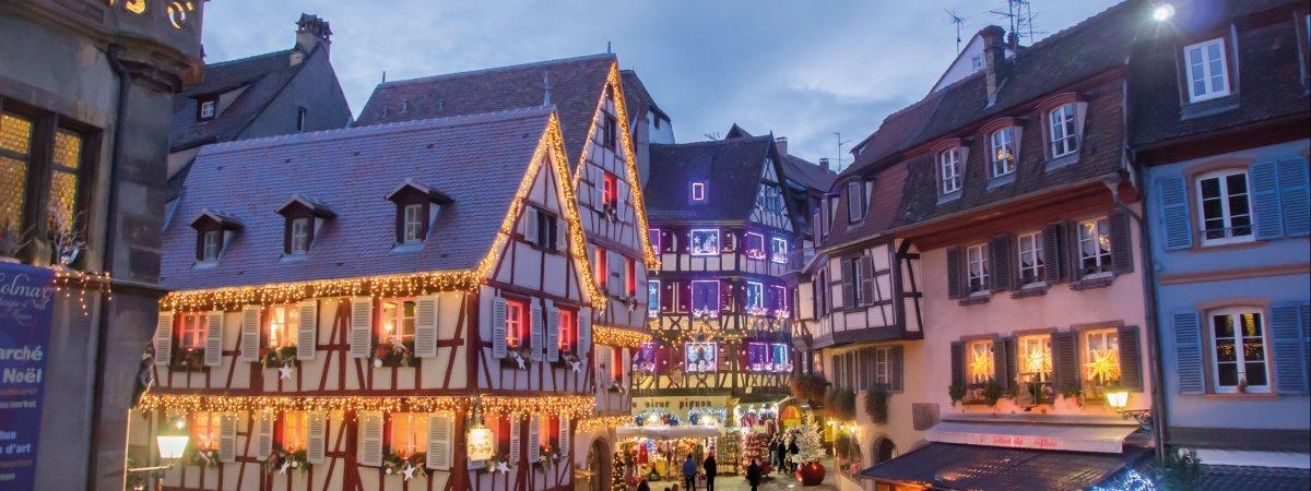 Colmar Weihnachtsmarkt.Weihnachtsmarkt Colmar
